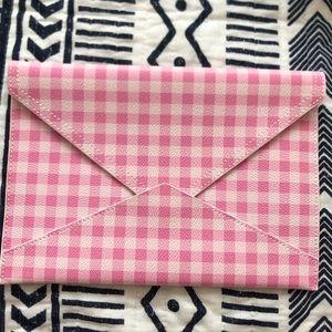 BR gingham envelope clutch